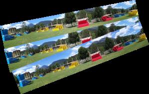 Il parco di Locus Locorum 2013 con le sue coloratissime casette